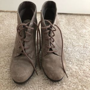 Brown Lace Up Bootie